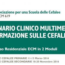 4-6/03/2016 Seminario Clinico Multimediale di Formazione sulle Cefalee