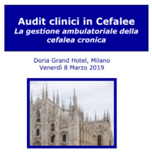 8/3/2019 - 29/11/2019 - Audit clinici in Cefalee